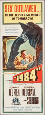 """1984 (Columbia, 1956). Folded, Very Fine+. Insert (14"""" X 36""""). Science Fiction"""