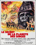 """Movie Posters:Science Fiction, Beneath the Planet of the Apes (20th Century Fox, 1970). Folded, Very Fine+. French Petite (17.75"""" X 22.5"""") Boris Gri..."""