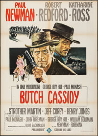 "Butch Cassidy and the Sundance Kid (20th Century Fox, 1969). Folded, Fine/Very Fine. Italian 2 - Fogli (39.25"" X 55..."