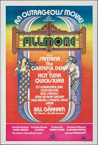 "Fillmore (20th Century Fox, 1972). Folded, Very Fine-. Australian One Sheet (27"" X 40""). David Byrd Artwork. R..."