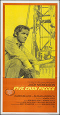"""Movie Posters:Drama, Five Easy Pieces (Columbia, 1970). Folded, Very Fine. Three Sheet (41"""" X 79""""). Drama.. ..."""