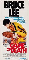 """Movie Posters:Action, Game of Death (Filmways, 1981). Folded, Very Fine-. First Release Australian Daybill (13.25"""" X 26.75""""). Bob Gleason Artwork...."""