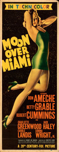 Movie Posters:Musical, Moon Over Miami (20th Century Fox, 1941). Fine+. I...