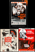 Movie Posters:Horror, Night of the Bloody Apes/Feast of Flesh Combo (Jerand Film Distributors Inc., 1968). Overall: Very Fine-. Uncut Pressbook (4... (Total: 6 Items)