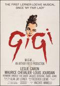 "Movie Posters:Musical, Gigi (MGM, 1958). Folded, Fine+. Trimmed One Sheet (27"" X 40""). Musical.. ..."
