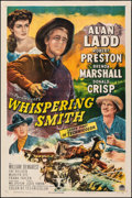 """Movie Posters:Western, Whispering Smith (Paramount, 1949). Very Fine+ on Linen. One Sheet (27"""" X 41""""). Western.. ..."""