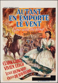 """Gone with the Wind (MGM, 1939). Rolled, Very Fine+. Pre-War Belgian (23.5"""" X 33.5""""). M. DeMill Artwork. Academ..."""