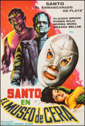 """Movie Posters:Horror, Santo in the Wax Museum (Azteca Films, 1964). Very Fine+ on Linen. Full-Bleed Spanish One Sheet (26.5"""" X 39.5""""). Horror.. ..."""
