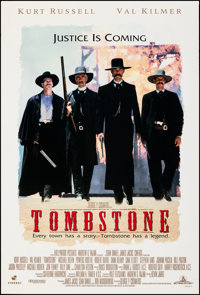 """Tombstone (Buena Vista, 1993). Rolled, Very Fine. One Sheet (27"""" X 40"""") DS. Western"""