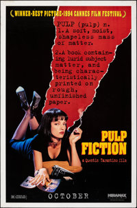 """Pulp Fiction (Miramax, 1994). Rolled, Fine/Very Fine. One Sheet (27"""" X 41"""") SS Advance. Crime"""