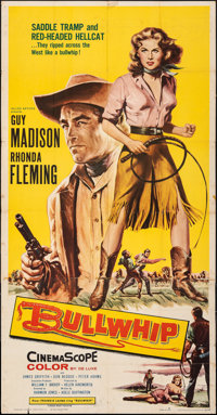 "Bullwhip (Allied Artists, 1958). Folded, Fine. Three Sheet (41"" X 79""). Western"