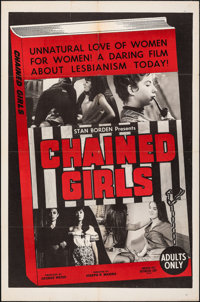 "Chained Girls (AFDC, 1965). Folded, Fine+. One Sheet (27"" X 41""). Sexploitation"