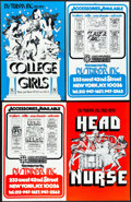 Movie Posters:Comedy, College Girls & Others Lot (Sack Amusement Enterprises, 1968). Folded, Overall: Very Fine-. Uncut Pressbooks (8) (Mul...