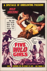 "Five Wild Girls & Other Lot (AFDC, 1966). Folded, Very Fine-. One Sheets (2) (27"" X 41"" & 28&q..."