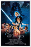 "Movie Posters:Science Fiction, Return of the Jedi (20th Century Fox, 1983). Rolled, Very Fine-. One Sheet (27"" X 41"") Style B, Kazuhiko Sano Artwork. Scien..."
