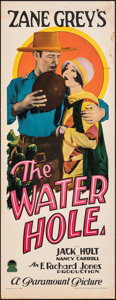 """Movie Posters:Western, The Water Hole (Paramount, 1928). Very Fine-. Insert (14"""" X 36""""). Western.. ..."""