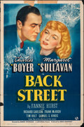 "Movie Posters:Drama, Back Street (Universal, 1941). Folded, Fine. One Sheet (27"" X 41""). Drama.. ..."