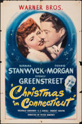 "Movie Posters:Comedy, Christmas in Connecticut (Warner Bros., 1945). Folded, Fine+. One Sheet (27"" X 41""). Comedy.. ..."