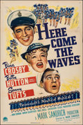 "Movie Posters:Musical, Here Come the Waves (Paramount, 1944). Folded, Fine/Very Fine. One Sheet (27"" X 41""). Musical.. ..."