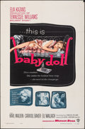 "Movie Posters:Drama, Baby Doll (Warner Bros., 1957). Folded, Very Fine-. One Sheet (27"" X 41""). Drama.. ..."