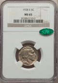 1928-S 5C MS65 NGC. CAC. NGC Census: (42/12). PCGS Population: (104/16). CDN: $1,900 Whsle. Bid for NGC/PCGS MS65. Minta...