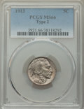 1913 5C Type Two MS66 PCGS. PCGS Population: (244/32). NGC Census: (88/7). CDN: $600 Whsle. Bid for NGC/PCGS MS66. Minta...