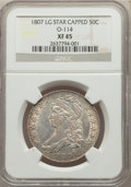 1807 50C Capped Bust, Large Stars, O-114, R.3, XF45 NGC. NGC Census: (4/13). PCGS Population: (2/15). XF45. From ...(PCG...