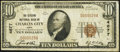 National Bank Notes:Iowa, Charles City, IA - $10 1929 Ty. 1 The Citizens National Bank Ch. # 4677 Fine.. ...