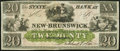 Obsoletes By State:New Jersey, New Brunswick, NJ- State Bank at New Brunswick $20 18__ Remainder Crisp Uncirculated.. ...