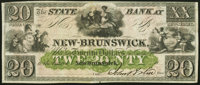 New Brunswick, NJ- State Bank at New Brunswick $20 18__ Remainder Crisp Uncirculated