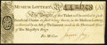"""Obsoletes By State:Pennsylvania, Colonial Era Lottery Ticket for the British """"Museum-Lottery"""" circa 1773 Extremely Fine.. ..."""