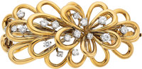 Diamond, Platinum, Gold Clip-Brooch, Van Cleef & Arpels
