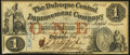 Obsoletes By State:Iowa, Dubuque, IA- Dubuque Central Improvement Company $1 Feb. 1, 1858 About Uncirculated.. ...