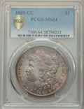 1885-CC $1 MS64 PCGS. PCGS Population: (8409/5909 and 392/384+). NGC Census: (3776/2582 and 83/98+). CDN: $600 Whsle. Bi...