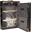 "Luxury Accessories:Travel/Trunks, Louis Vuitton Rare Black Epi Leather Special Order 85cm Wardrobe Steamer Trunk. Condition: 3. 34.5"" Width x 22 Height ..."