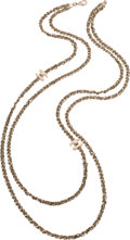 "Luxury Accessories:Accessories, Chanel Double Strand Chain CC Necklace . Condition: 2. 37"" Length. ..."