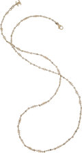 """Luxury Accessories:Accessories, Chanel Crystal & CC Necklace. Condition: 2. 43.5"""" Length. ..."""