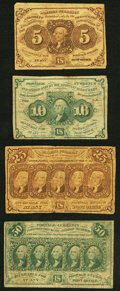 Fr. 1230 5¢ First Issue Fine; Fr. 1242 10¢ First Issue Fine-Very Fine; Fr. 1281 25¢ First Issue Fine; Fr...