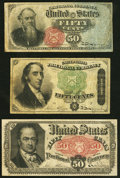 Fr. 1376 50¢ Fourth Issue Stanton Fine-Very Fine; Fr. 1379 50¢ Fourth Issue Dexter Fine-Very FIne; Fr. 1380 50...