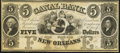 New Orleans, LA- New Orleans Canal and Banking Company $5 18__ Remainder Choice Crisp Uncirculated