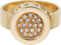 Luxury Accessories:Accessories, Chanel Diamond & 18k Yellow Gold La Ronde Band Ring. Condition: 2. Size: 6.5 . ...
