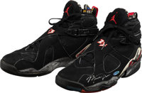 1992-93 Michael Jordan Game Worn, Signed Sneakers with Upper Deck Authenticated Hologram
