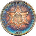 Three Cent Silver, 1860 3CS AU53 PCGS. PCGS Population: (39/388). NGC Census: (10/285). AU53. Mintage 286,000....