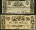 New Orleans, LA- New Orleans Canal and Banking Company $20 18__ Remainder Choice Crisp Uncirculated; Salem, NJ- Salem...