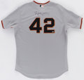 Autographs:Jerseys, 2011 Robert Kelly Game Worn & Signed San Francisco Giants Jackie Robinson Day Jersey, MLB Authentication....