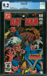 Batman #365 (DC, 1983) CGC NM- 9.2 White pages
