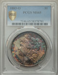 1883-O $1 MS65 PCGS. PCGS Population: (9402/1043 and 177/166+). NGC Census: (11138/1089 and 129/50+). MS65. Mintage 8,72...