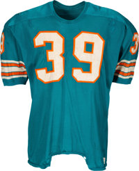 1969 Larry Csonka Game Worn & Signed Miami Dolphins Jersey--Photo Matched!