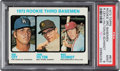 Baseball Cards:Singles (1970-Now), 1973 Topps Mike Schmidt - Rookie 3rd Basemen #615 PSA Mint 9. ...