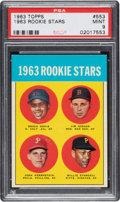 Baseball Cards:Singles (1960-1969), 1963 Topps Willie Stargell - 1963 Rookie Stars #553 PSA Mint 9 - Only Two Higher. ...